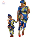 2017 Spring New Fashion Family Matching Clothes Brand Mother and Son Baby Family Clothing Sets Family african clothing BRWY1188