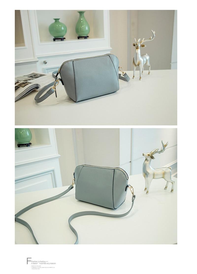 Trendy Japanese and Korean simple shell bag Fashion matches everything female bag small bag single shoulder Messenger bag 41