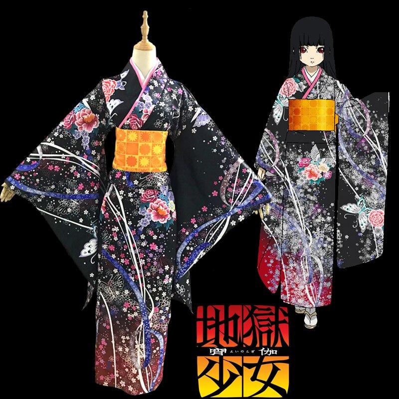 Anime Hell Girl Enma Ai Yukata Bathrobe Home Japanese