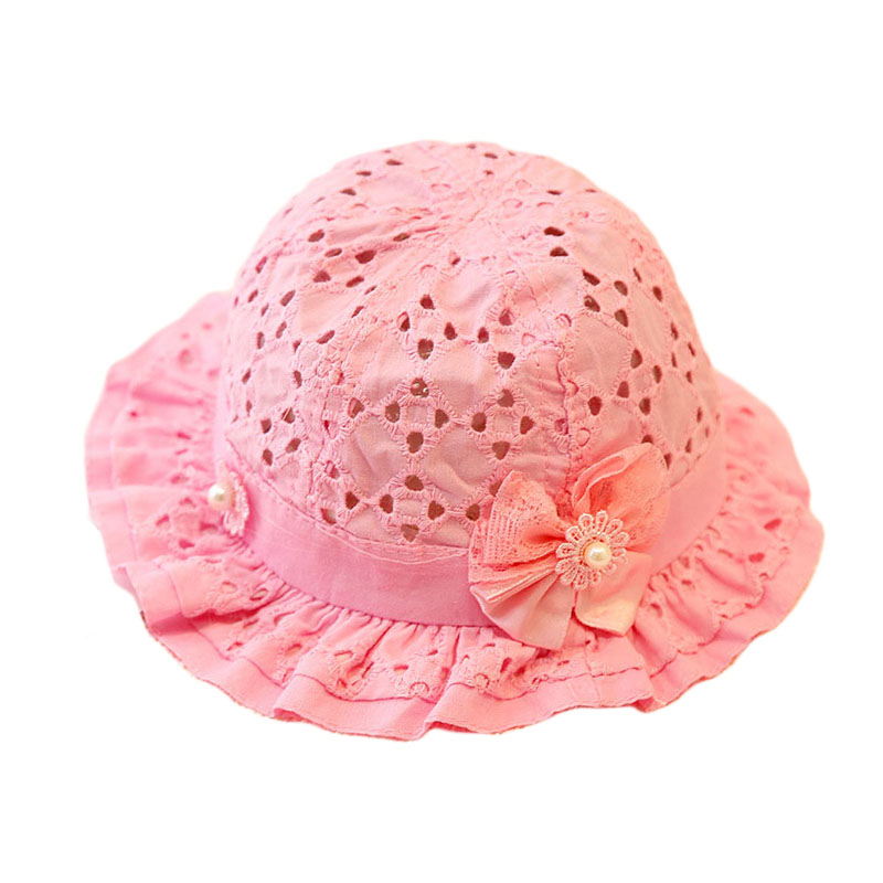 8aecf06e5440b Hot Lovely Panama Children Summer Toddler Hat Hollow Breathable Cot ...