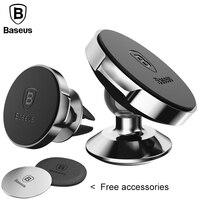 Baseus 360 Độ Universal Car Holder Magnetic Air Vent Núi Mobile điện thoại Khung Giá Cho PC GPS Điện Thoại Di Động Dán Xe Chủ Đứng