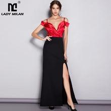 Женское дизайнерское платье в полоску milan Элегантное Длинное