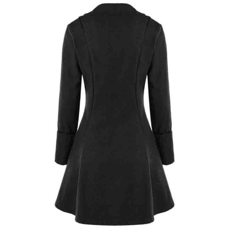 62e647fbafe LAAMEI Women Lace Button Long Sleeve Tailcoat Victorian Style Coat ...