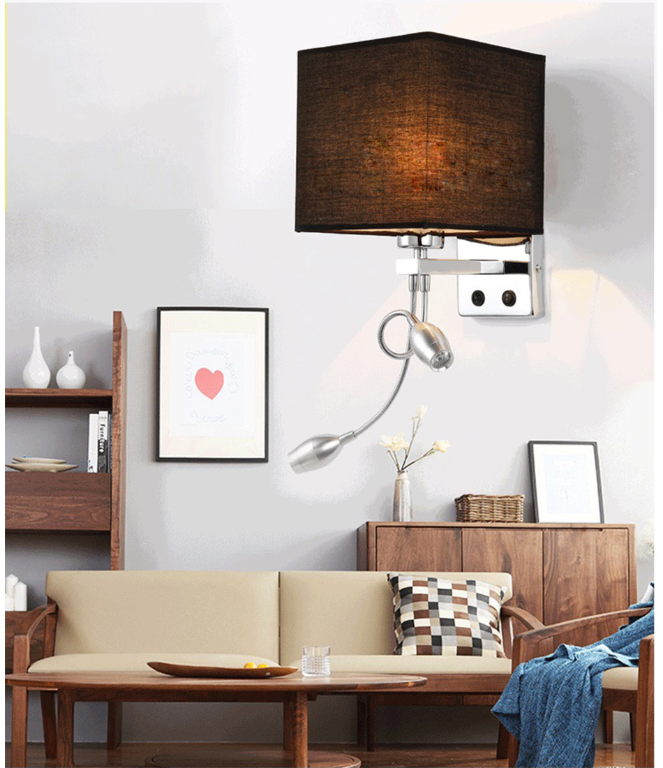 Wall Lamp Sconce Switch Stairs Light Luminaires Fixture E27 Bulb Bedroom Decor Bathroom Modern Bedside Lighting Wall Mounted (20)