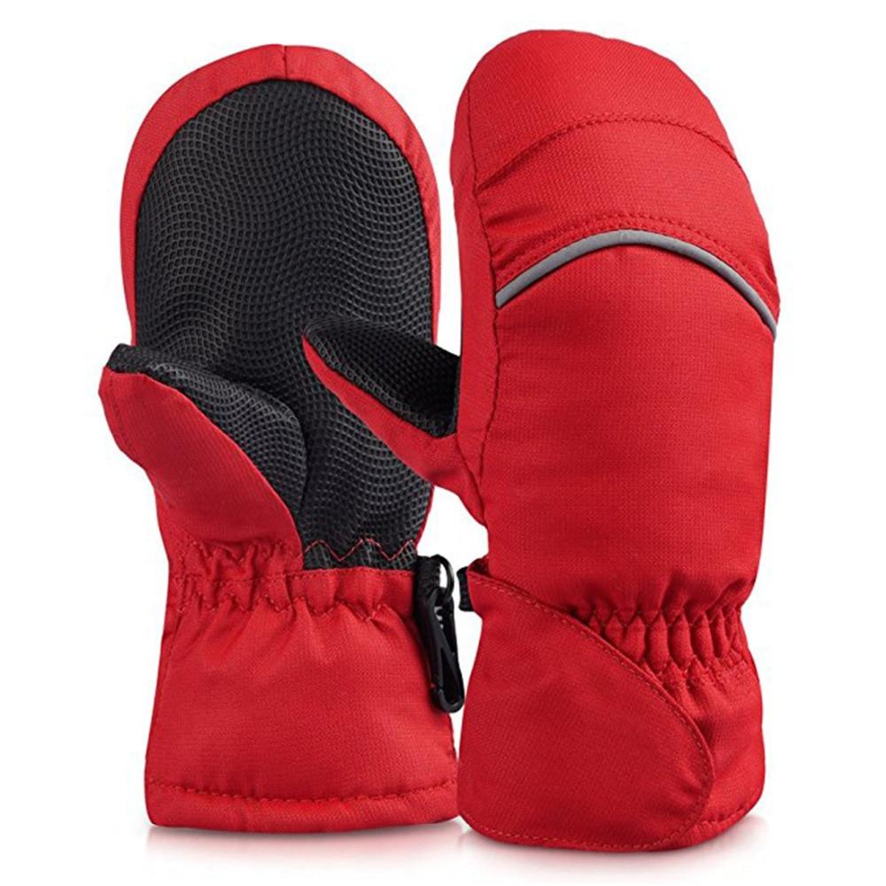Winterhandschuhe für Baby Wasserdichte Handschuhe Verdickung Warme Winterhandschuhe Jungen Mädchen Kinder Kinder Handschuhe Snowboardhandschuhe