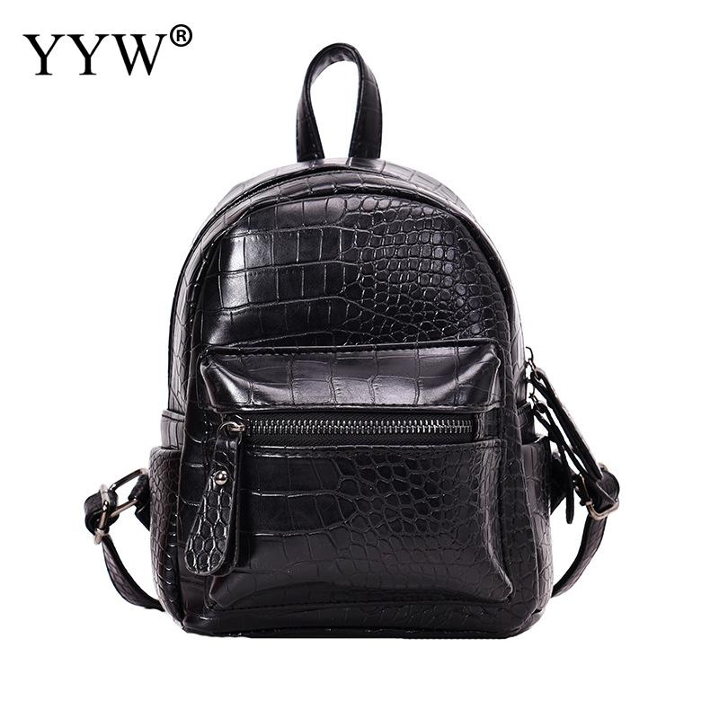 Casual Women Backpack For School Teenagers Girls Solid Bag 2018 Bookbag PU Leather Backpack