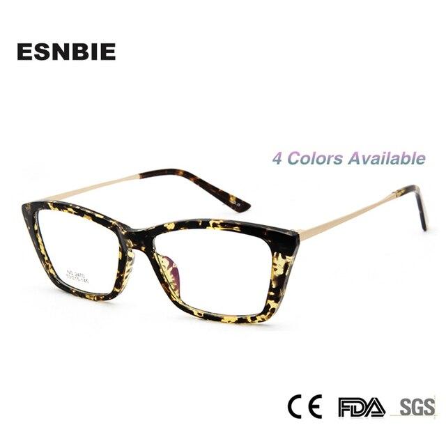 9882ecd50 ESNBIE New Plain Glasses for Computer Oculos De Grau Femininos Myopia Women  Butterfly Eyeglass Frames