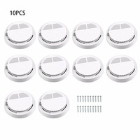 10Pcs Sensor Sensitive Photoelectric Home Independent alarm Smoke Detector Fire Alarm alone Sensor For Family Guard