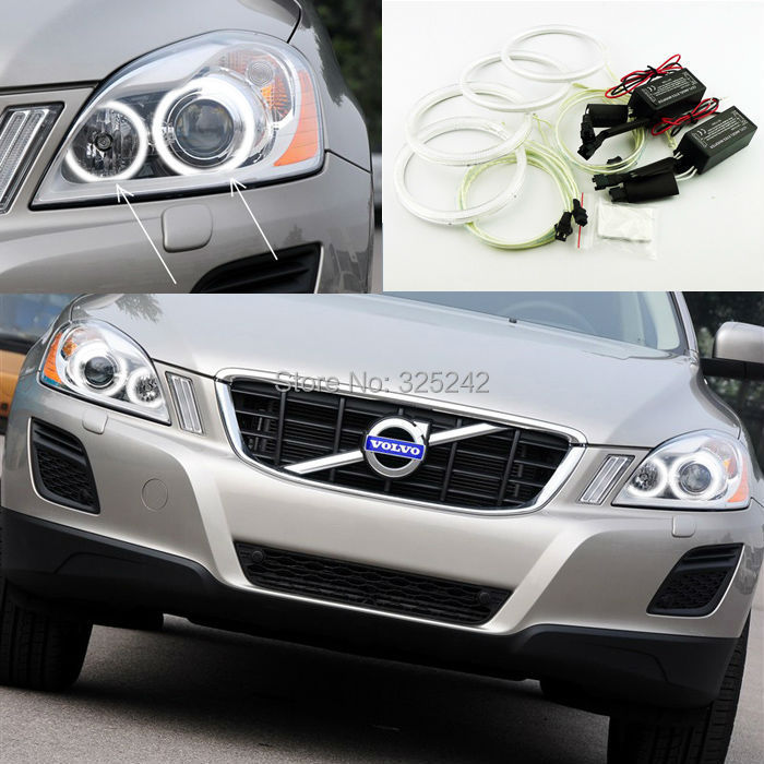 For Volvo XC60 2009 2010 2011 2012 2013 XENON HEADLIGHT Excellent angel eyes Ultra bright ...