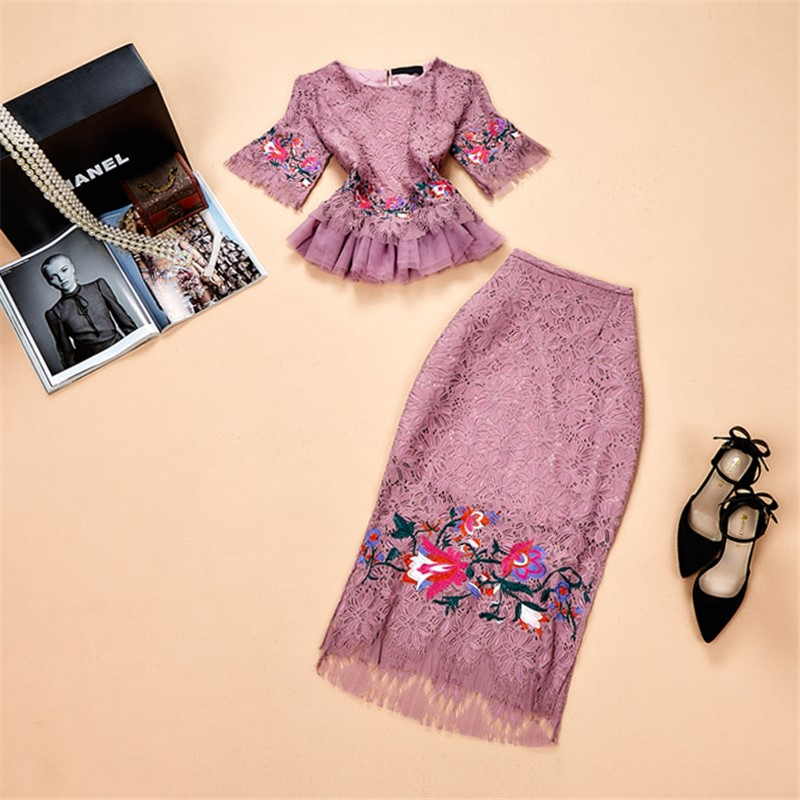 2019 Euramerican Spring Summer New Fashion Exquisite Embroidery Gauzy Lace Elegant Lady HIgh Quality Popular 2