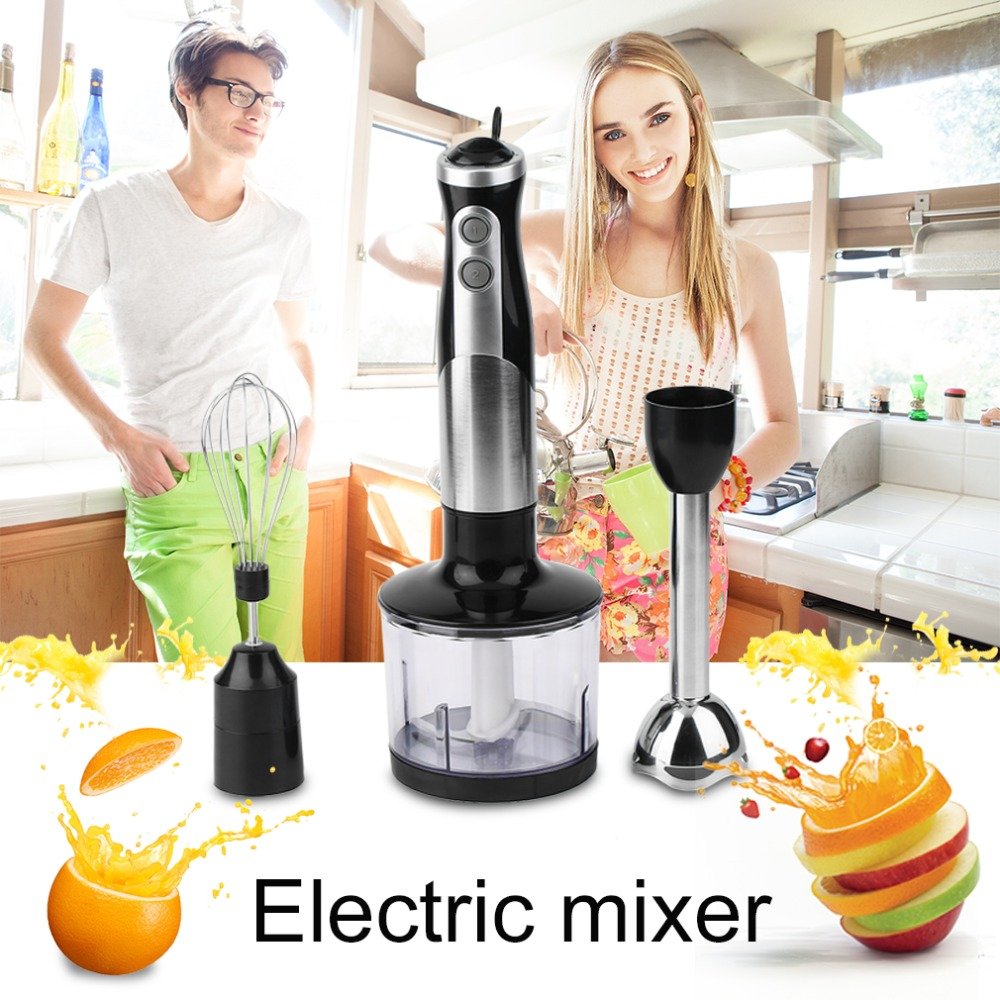 600W 5 in 1 Professional Stainless Steel Three In One Electric Mixer Blender Fruit Juicer Powerful Food Processor   J25C28 2200w heavy duty commercial grade blender mixer juicer high power food processor ice smoothie bar fruit blender octavo