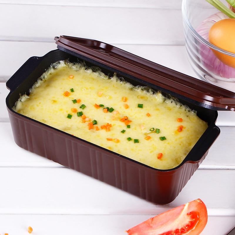 Lunch Box Die-cast Hliníková krabička Multifunkční toastová chléb Miska Non-stick Žádný zvláštní vůně Loaf Pans Pečení dortu Nástroje BM-016