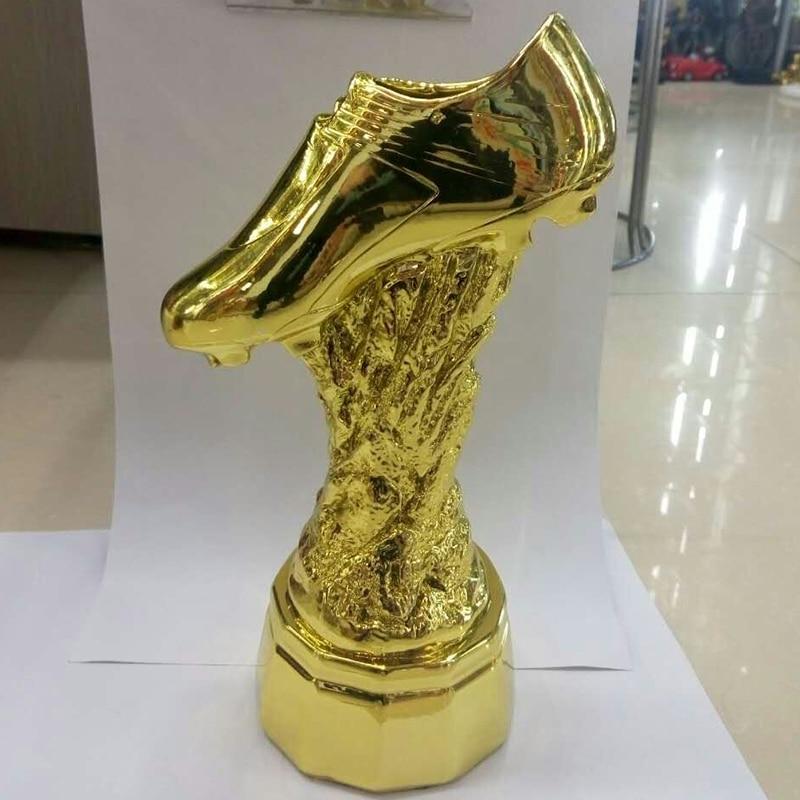 La coupe du trophée du meilleur tireur coupe d'or Football Football Souvenirs prix pour le trophée du tournoi de Football du meilleur joueur