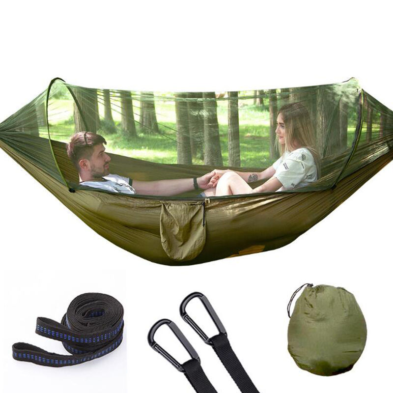 1-2 Person Outdoor Ultralight Parachute Hammock Hunting Mosquito Net Double Person drop-shipping Outdoor Furniture Hammock W031-2 Person Outdoor Ultralight Parachute Hammock Hunting Mosquito Net Double Person drop-shipping Outdoor Furniture Hammock W03