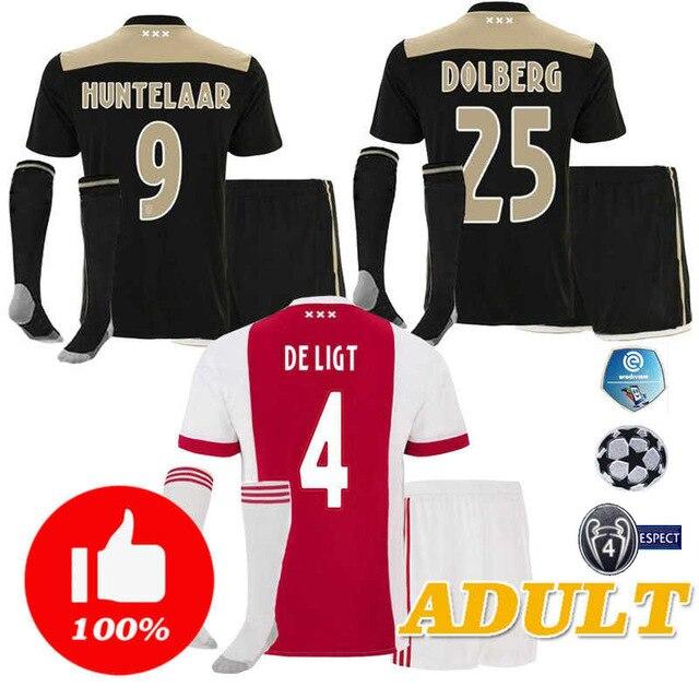 ed1981e25 2018 2019 ajax soccer jerseys man 2020 away socks shirts home adult 18 19  full kit Leisure tracksuit coat sweater jacket