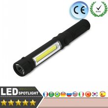 Multifunction COB LED Mini Pen Light Handle Work Inspection Flashlight Torch Lamp With the Bottom Magnet and Clip Black/Red/Blue(China)
