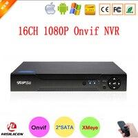 Hisiclion Chip Cassa del Metallo XMeye P2P Due Porta SATA 1080 P 16ch Onvif 16 Canali di Sorveglianza Video Recorder NVR Spedizione libero