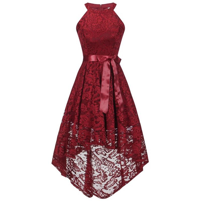 2018 מסיבת חתונת שמלת נשף שמלת אופנה בגדי קדמי קצר ארוך בחזרה כהה כחול הלטר Bow שושבינה שמלות