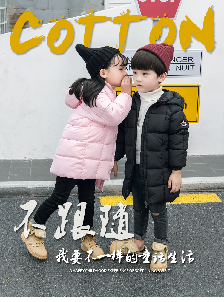 Jacket Suit Down Boys Children's Casual Long Thick Cotton Female Baby New-Fashion