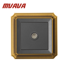 Free Shipping MVAVA modern Electric Universal TV Aerial wall socket ,wall Television Plug Outlet,Luxury Decorative Bronzed panel