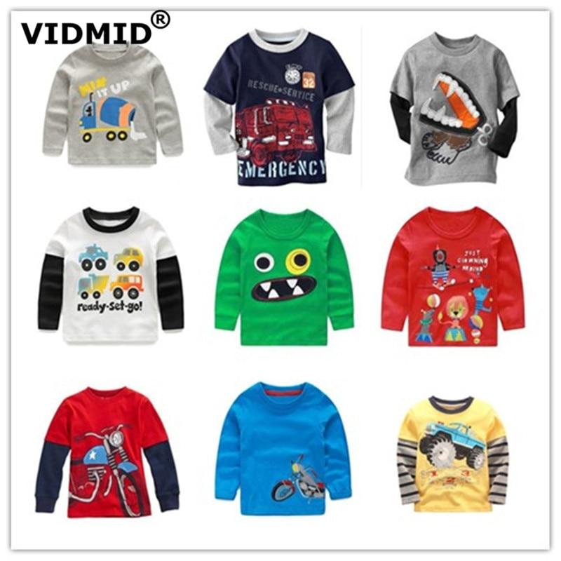 VIDMID Boys T-Shirt Sweater Long-Sleeve Tees Children Tops Kids Cotton Casual Spring