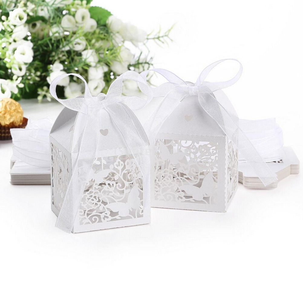 10Pcs Birthday Party Event Decoration Butterfly Baby Shower White ...