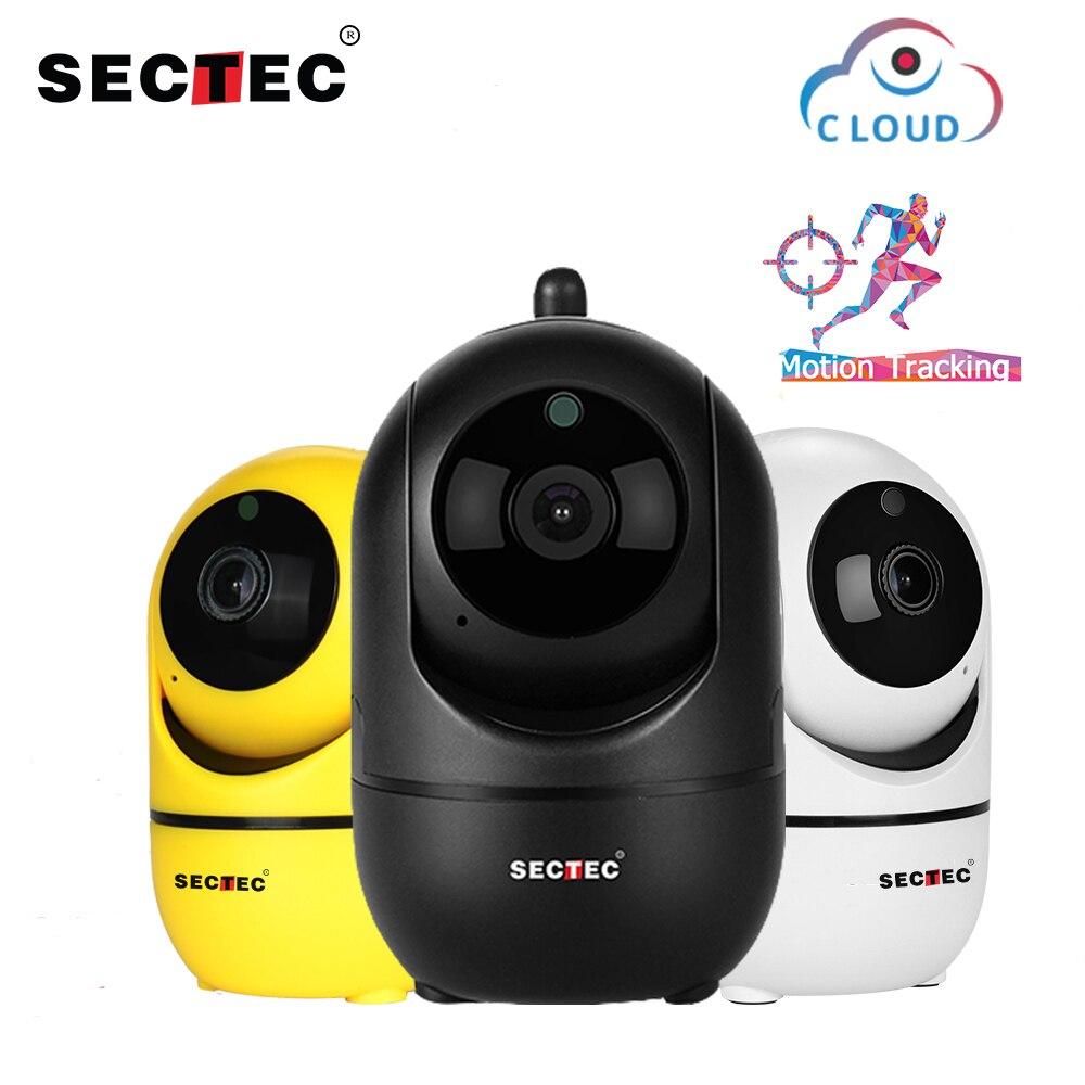 Cámara IP inalámbrica SECTEC Cloud 1080 p seguimiento automático inteligente de vigilancia de seguridad interior humana CCTV red Wifi Cam