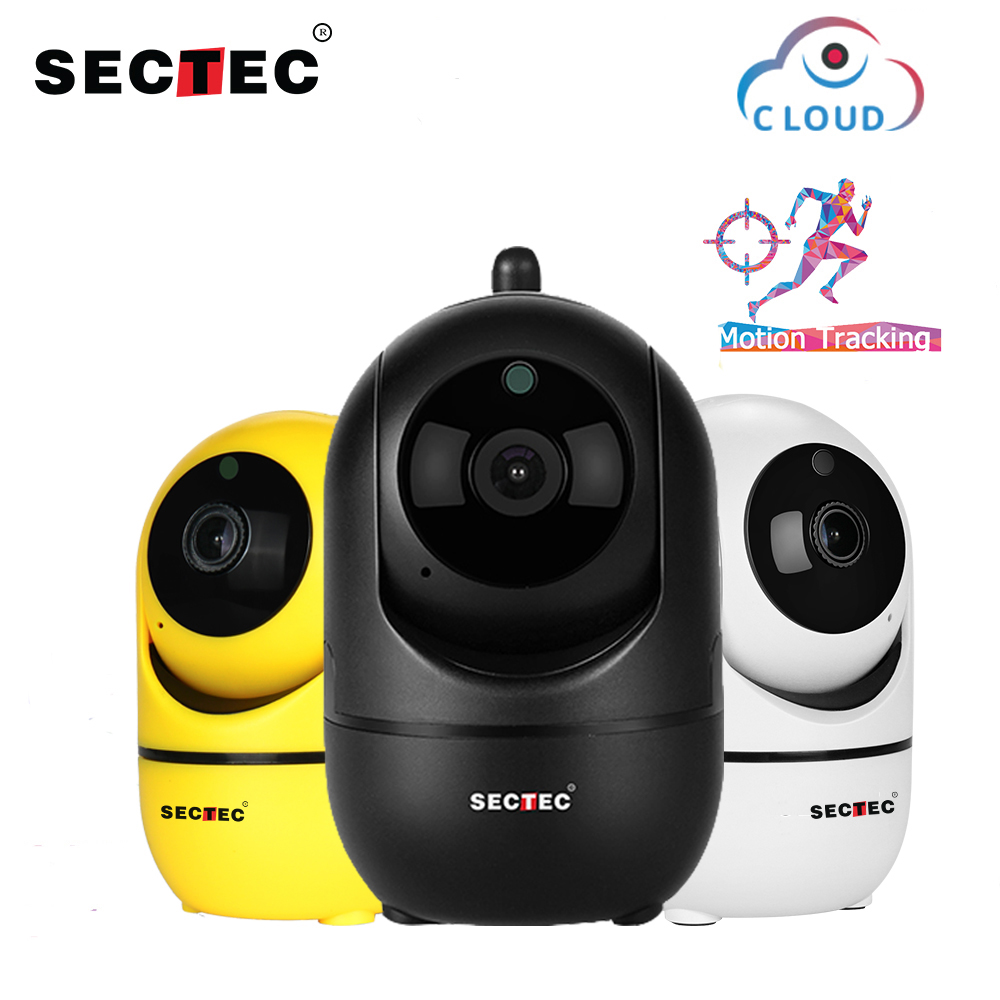 SECTEC Cloud Wireless IP Camera 1080P Intelligent Auto Tracking Of Human Indoor Home Security Surveillance CCTV Network Wifi Cam