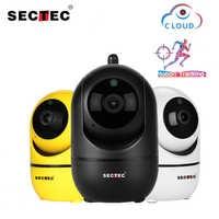SECTEC Copertura Wireless IP Della Macchina Fotografica 1080P Intelligente Auto Tracking Di Umani Casa Coperta CCTV di Sorveglianza di Sicurezza di Rete Wifi Cam