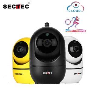 Image 1 - SECTEC bulut kablosuz IP kamera 1080P akıllı otomatik takip İnsan kapalı ev güvenlik gözetleme CCTV ağ Wifi kamera