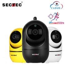 SECTEC cámara IP inalámbrica en la nube 1080P, seguimiento automático inteligente de seguridad humana para interiores, vigilancia de seguridad para el hogar, cámara Wifi de red CCTV