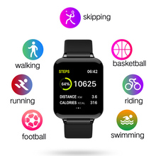 New B57 smart watch heart rate monitor blood pressure fitness IP67 waterproof Android sports bracelet for men and women