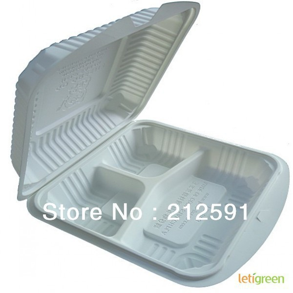 Three Compartment Sustainable Food Packing Sandwich