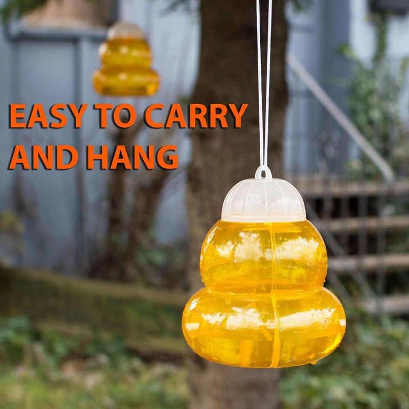 Tawon Hornet Perangkap Catcher Menggantung Umpan Pembunuh untuk Bee Jaket Kuning Lebah Lebah J2Y
