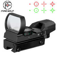 Hot 20mm Rail lunette de visée optique de chasse holographique point rouge vue réflexe 4 réticule portée tactique collimateur vue