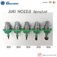 شحن مجاني 5 قطعة/المجموعة القياسية JUKI فوهة (502 503 504 505 506) 5 حجم ، SMT فوهة ل SMT ماكينة استبدال المكونات باستخدام تقنية التركيب السطحي Charmhigh