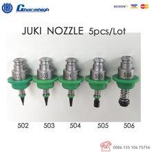 จัดส่งฟรี 5 ชิ้น/เซ็ตมาตรฐาน JUKI Nozzle (502 503 504 505 506) 5 ขนาดหัวฉีด SMT สำหรับ SMT เครื่อง Pick and Place Charmhigh