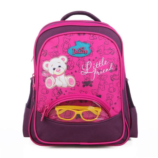 Delune Kids Backpack Schoolbags for Boys Girls New Design Cute Cartoon Bear  Schoolbags High Quality Silk 70f6d25540323
