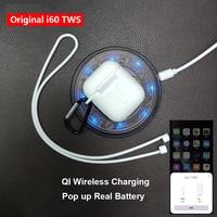 i60 TWS Pop up 1:1 Replica Separate use Wireless Earphone QI Wireless Charging Bluetooth 5.0 Earphones Bass Earbuds PK i20 i30