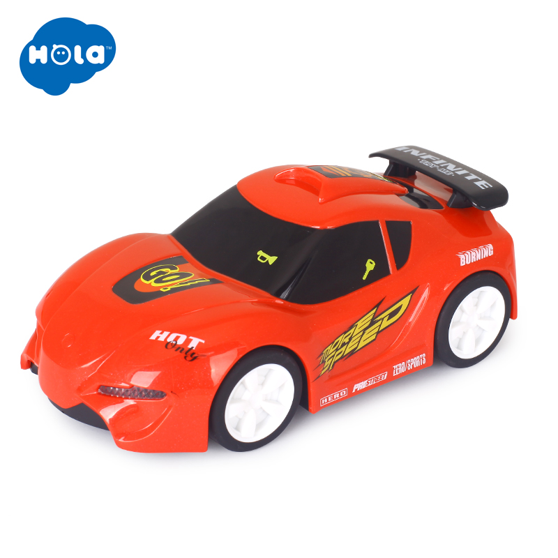 HUILE TOYS 6106B Baby Toys Touch 'n Go Race Car With Touchable Function & Music & Lights Pull Back Cars Toys For Children Gifts