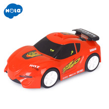 HUILE TOYS 6106B Baby Toys Touch 'n Go Race Car with Touchable Function & Music & Lights Pull Back Cars Toys for Children Gifts(China)