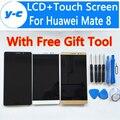 Для Huawei Mate 8 Сенсорный и ЖК-экран 100% Новый 6.0 Дюймов Сенсорный Экран + Жк-Дисплей Замена Для Huawei Mate 8