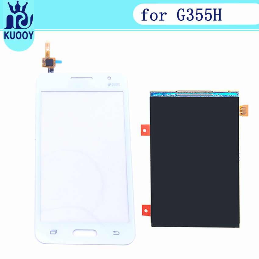For Samsung Galaxy Core 2 SM-<font><b>G355H</b></font> <font><b>G355H</b></font> G355 Duos Touch Screen Digitizer Sensor Glass + LCD <font><b>Display</b></font> Panel with tools image