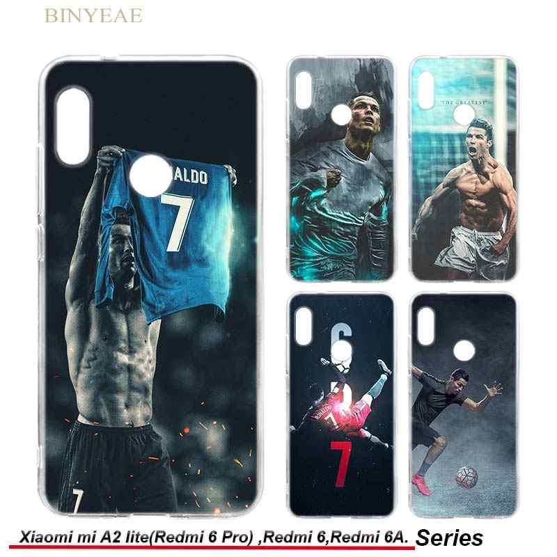 BINYEAE Cristiano Ronaldo CR7 Football Soft Case Cover for Xiaomi Mi A2  lite   Redmi 6 4f76582af8d1