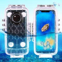 Haweel 40m/130ft Professional Waterproof Diving Housing Photo Video Taking Underwater Cover Case for Huawei Mate 20 Pro