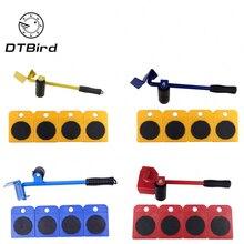 높은 품질 5pcs 가구 이동 도구 이동 물건 운반 무거운 개체 내구성 전송 시프터 휠 슬라이더 리무버 롤러