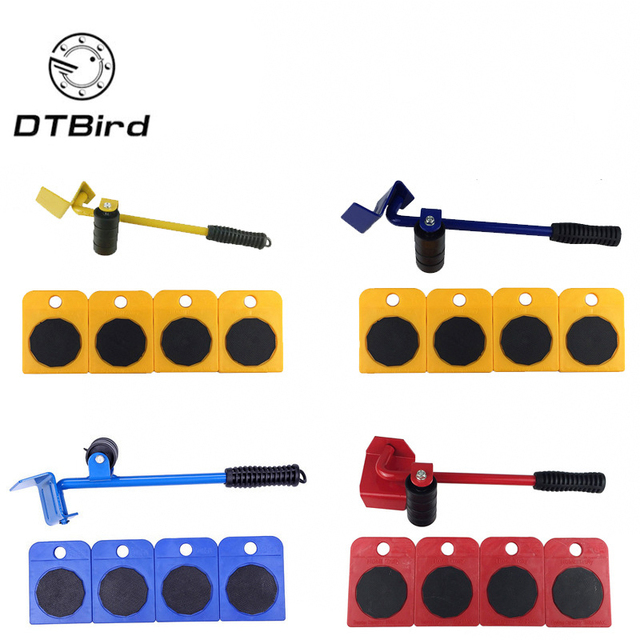 High Quality 5pcs Furniture Moving Tool Move Things Carry Heavy Objects Durable Transport Shifter Wheel Slider Remover Roller