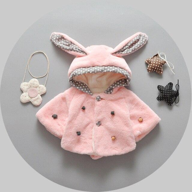 2016 новый осень зима детские девушки пальто мило утолщение бархат детские из искусственного меха шаль мода новорожденных верхняя одежда девочка мыс