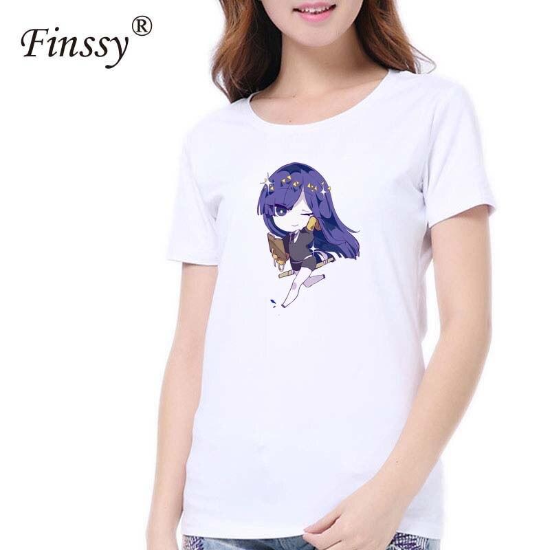 Hoseki no kuni Print t shirt for Women Summer Style Short sleeve