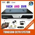 Productos Nuevos AHD de 16CH DVR para 720p/960P/1080p AHD cámara CCTV 16 canales ONVIF IP NVR H.264 grabador vigilancia de red